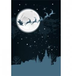 Santa's sleigh vector image vector image