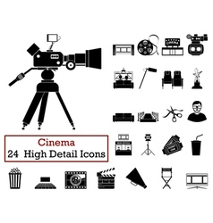 Set of 24 Cinema Icons vector image vector image