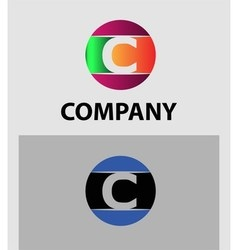 Set of letter C logo icons design template element vector image vector image