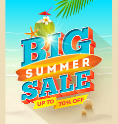 big summer sale design - summer vacation desiogn vector image vector image