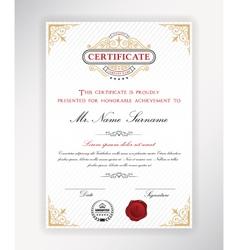 Certificate template design vector