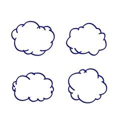 cloud hand-drawn vector image vector image