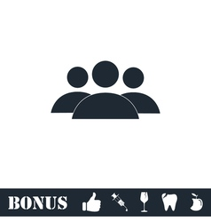 Friends icon flat vector