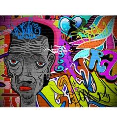 Graffiti wall urban art background vector image vector image