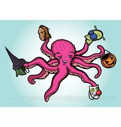 Halloween Octopus vector image vector image
