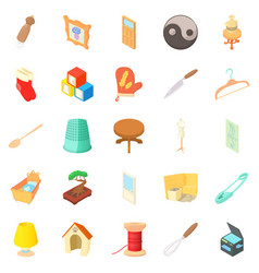 homes things icons set cartoon style vector image vector image