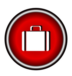icons suitcase vector image vector image