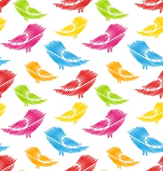 Seamless Pattern with Abstract Colorful Birds vector image vector image
