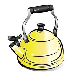 teapot kettle vector image vector image