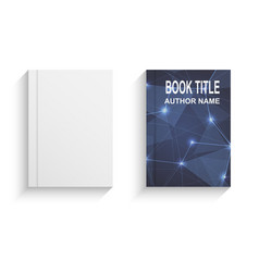 abstract book cover design template with blue vector image