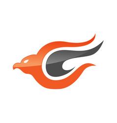 abstract eagle bird or fantasy eagle logo template vector image