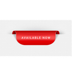 Available now sticker tag banner label vector