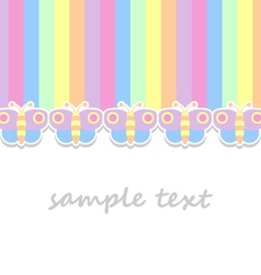 Baby background with pastel colors butterflies vector