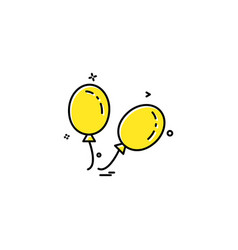 ballons icon design vector image
