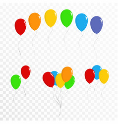 Balloons collection set of colorful balloons vector