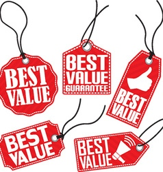 Best value red tag set vector image