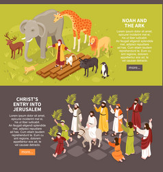 bible narratives horizontal banners vector image