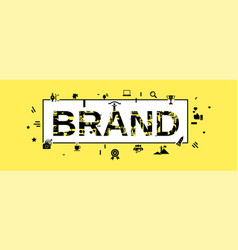 Brand concept banner simple style vector