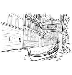 Bridge sighs venice sketch vector