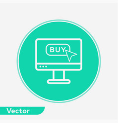 buy button icon sign symbol vector image