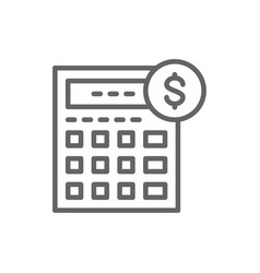 Calculator bookkeeping accounting finances vector