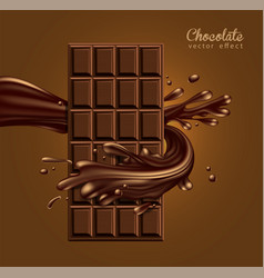 chocolate advertising design chocolate bar in a vector image