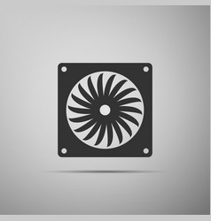 Computer cooler icon pc hardware fan vector
