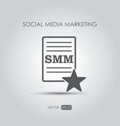 Copywriting icon Social media marketing vector image