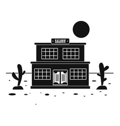 Desert saloon icon simple style vector