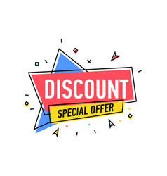 Discount proposition sticker in linear style vector