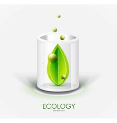 Eco glass vessel vector