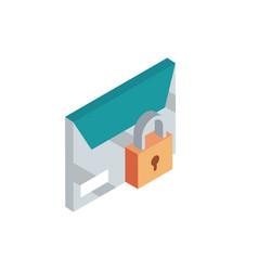 Envelope security correspondence postal mail vector