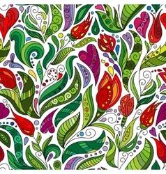 Ethnic floral zentangle doodle pattern Beautiful vector