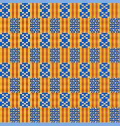 Ethnic seamless pattern kente cloth tribal print vector