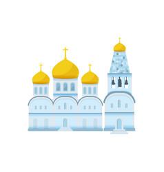 Flat orthodox christian church icon vector
