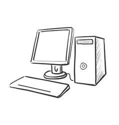Hand draw doodle computer vector