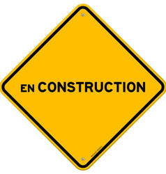 Isolated single en construction sign vector