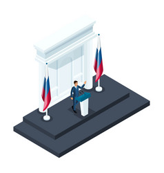 Isometry male presidential candidate speaking vector