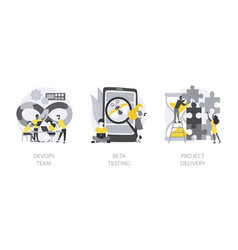 it teamwork abstract concept vector image