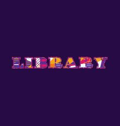 Library concept word art vector