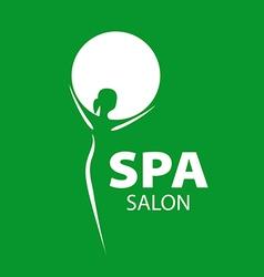 logo girl and a circle for the spa salon vector image