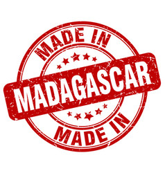Made in madagascar red grunge round stamp vector