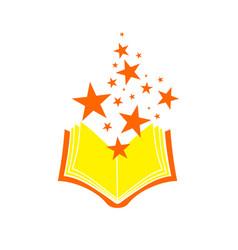 Magical wizard book symbol design vector