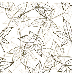 Maple leaves seamles vector