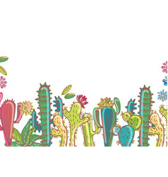 Mexico cactus collection vector