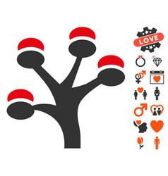 Money tree icon with dating bonus vector