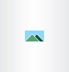 Mountain and sky logo sign vector