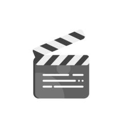 Movie clapboard vector