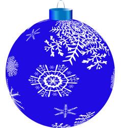 new year s blueball vector image