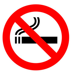 No smoking red sign vector